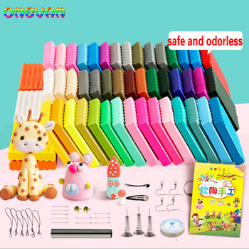 50 Colors Polymer Clay Light Soft Birthday Gift for Kids Adult Safe Colorful DIY Molding Craft Oven Baking Blocks