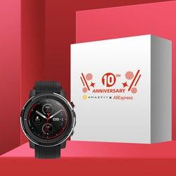 Dalam Saham Amazfit Stratos 3 Smart Watch GPS 5ATM Bluetooth Musik Dual Mode 14 Hari Baterai Smartwatch untuk Xiaomi 2019