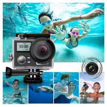 Dual Screen Ultra HD 4K Action Camera 30fps 16MP Wifi Remote Control Sport Camera Go Diving Pro Waterproof Sports DV DVR Camera цена 2017