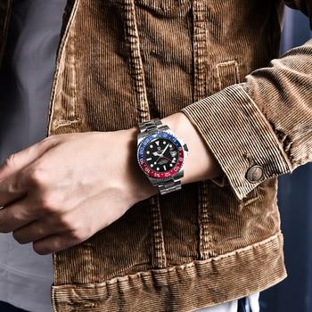 PAGANI DESIGN Sapphire Glass 40MM Ceramic GMT Mechanical Watches 100m Waterproof Classic Fashion Luxury Automatic Watch 4
