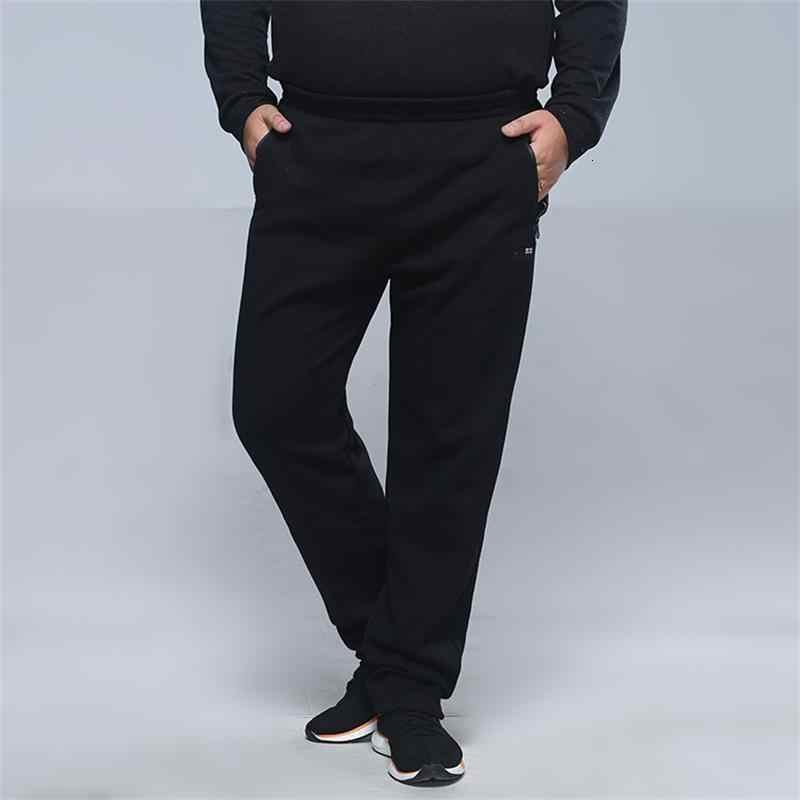 Big size nowy plus rozmiar 8XL 7XL spodnie zimowe człowiek ciepłe spodnie na co dzień polar wiosna jesień zima spodnie bawełniane modne spodnie