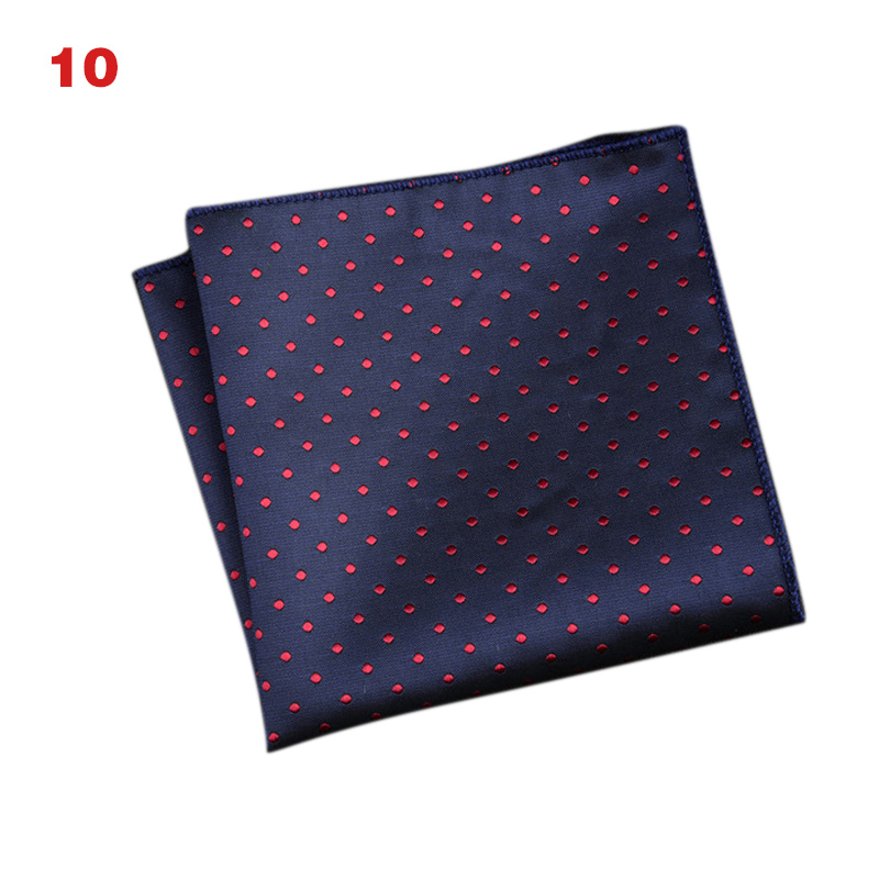 Newly Men's Handkerchief  Striped Floral Printed Hankies Polyester Business Pocket Square Chest Hanky IR-ing