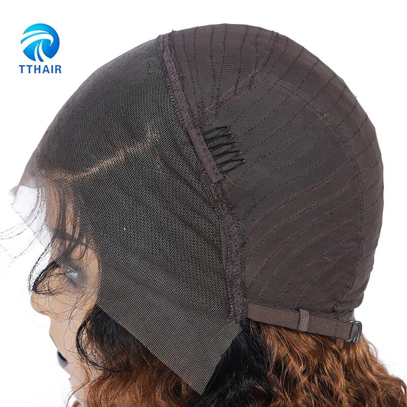 frente do laco perucas de cabelo humano para preto 05