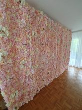 High Quality 40x60cm Silk Rose Artificial Flowers Mats Wedding Home Flower Wall Romantic for Background Decoration