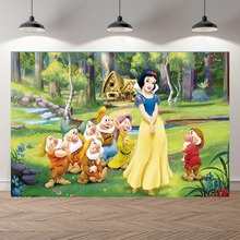 Personalized Vinyl Photography Background Princesses Snow White Newborn Birthday Party Children Backdrops for Photo Studio