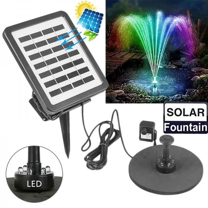 COCOZ solaire led landscap lumière fontaine stockage d'énergie fontaine pompe extérieur miniature jardin lumière sous-marine