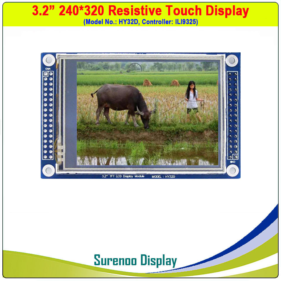 """3.2"""" 240*320 Resistive Touch TFT LCD Module Display Screen Panel HY32D W/ ILI9325 Controller PCB Adapter"""