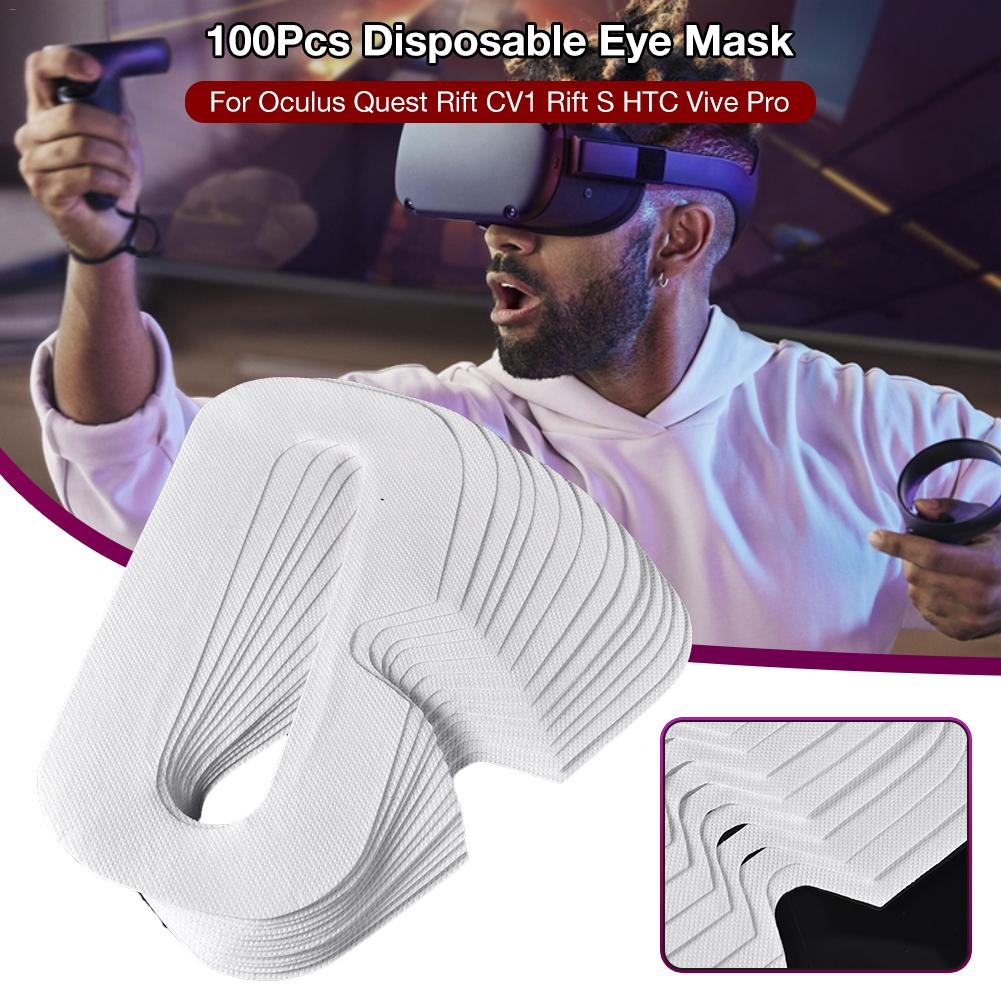 100Pcs For Oculus Quest/Rift CV1/Rift S/HTC Vive Pro/Valve Index Disposable VR Blinds Breathable Clean Sweat Mask