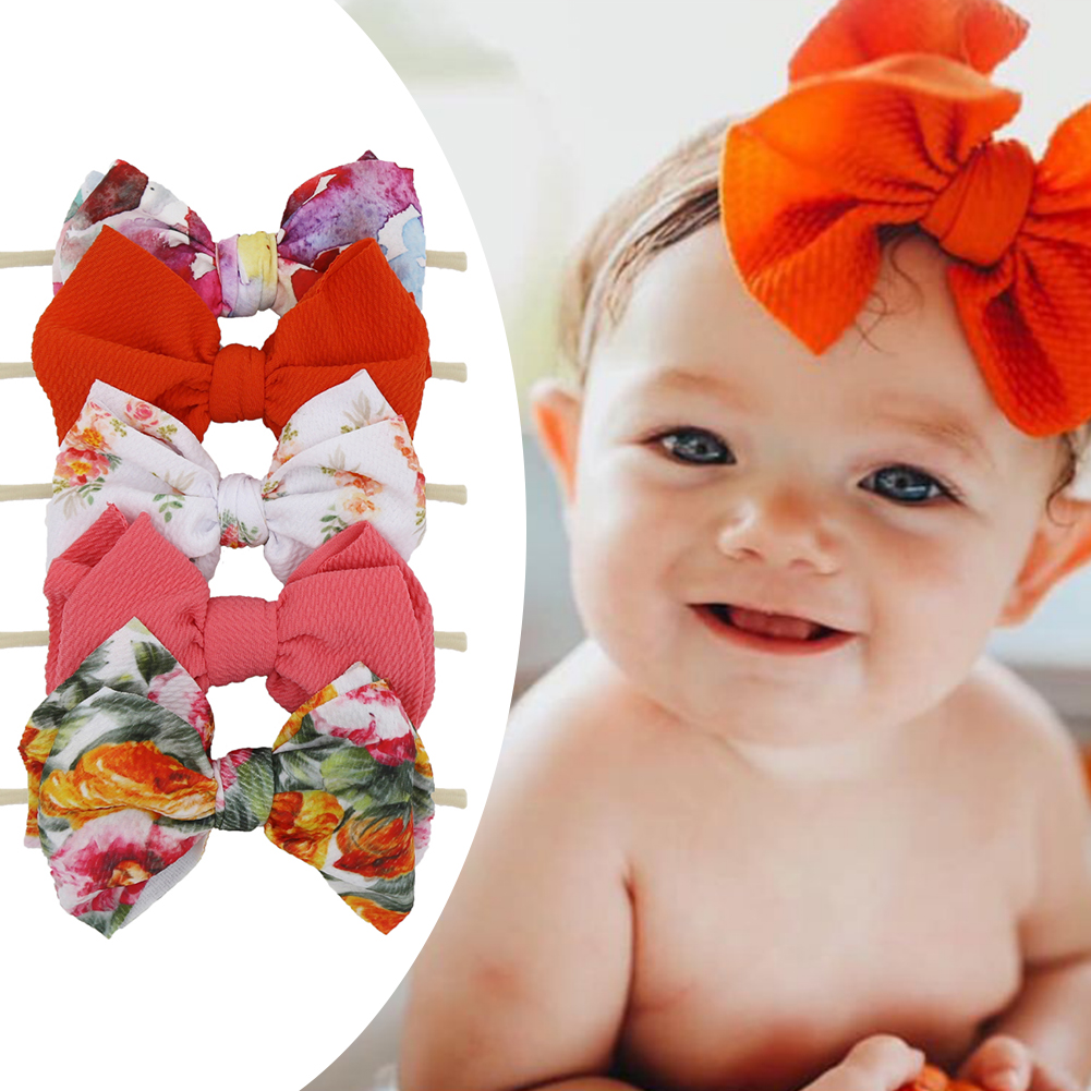 GirlBaby Toddler Turban Velvet Solid Headband Hair Band Bow Accessories Headwear