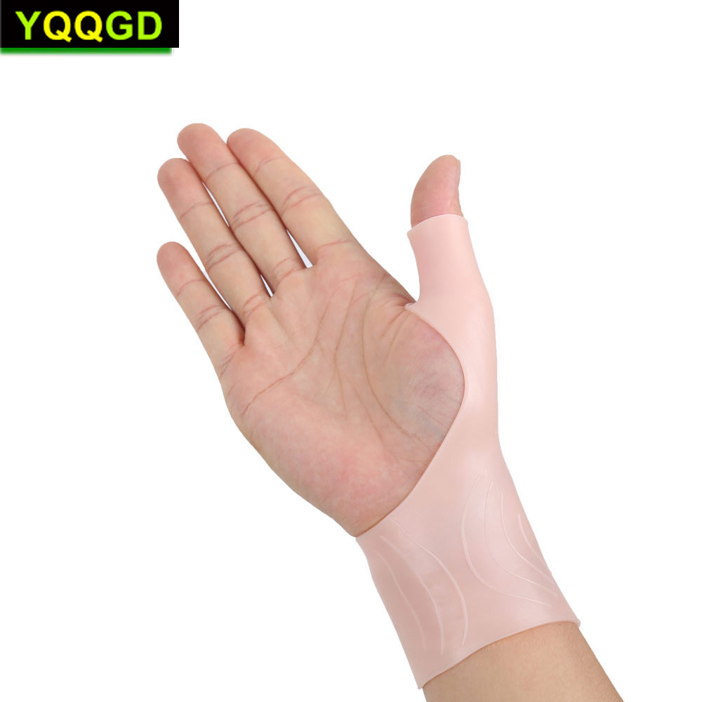 1Pair Gel Wrist & Thumb Support Braces for Right & Left Hand Relief Pain for Carpal Tunnel Rheumatism Tendonitis Waterproof Typi