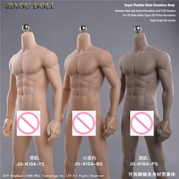 1/6 Doll Body Model Muscular Bodybuilder Male Painting Moving Muscle Encapsulated
