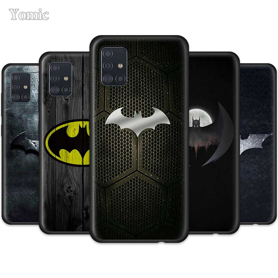 Cool Marvel Batman Logo Case For Samsung Galaxy A50 A51 A70 A71 A20e A40 S20 S10e S10 Plus Note 10 Lite Black Soft Phone Cover