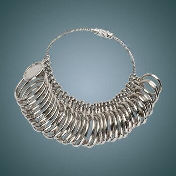 HK sizer 33 anillo de dedo de diferentes tamaños medidor de Metro de metal herramientas Medidas de tamaño para joyas herramientas de joyería