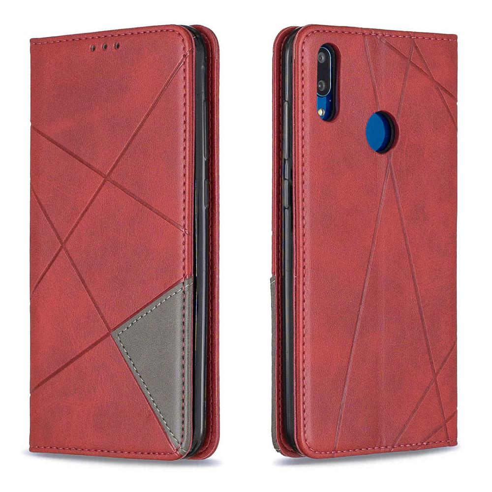 Magnetic Flip Leather Phone Case For Huawei Y7 2019 Y7 Prime 2019 Wallet Card Holder Back Cover For Huawei Y7 Prime 2019 Coque in Flip Cases from Cellphones Telecommunications