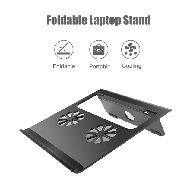 Aluminum Alloy Portable Laptop Stand For Macbook Air Pro Foldable Support Notebook Base Holder Accessories Riser Cooling Stand