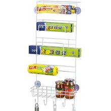Кухонная стойка для холодильника боковая полка боковой держатель многофункциональный многослойный органайзер для хранения холодильника