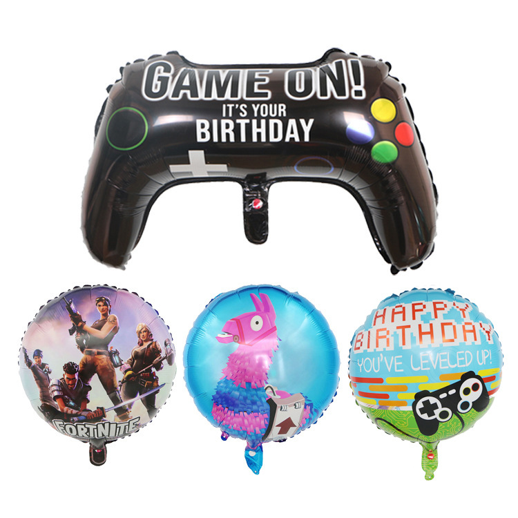 18-Inch Fortnite Game Handle Balloon Fortnite Gaming Carnival Game Party Decorative Balloon