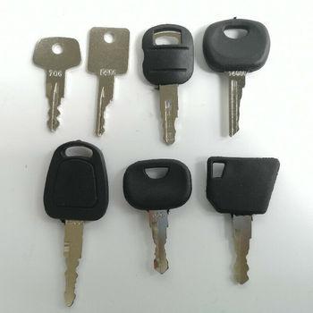 7 sztuk kluczyk zapłonowy ciężki sprzęt klucz urządzenia budowlane klucz 5P8500 606 F900 tanie i dobre opinie steel Ignition Key Heavy Equipment Key