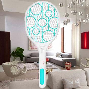 Nowy gorący Quash Pest akumulator USB elektryczna packa na komary owad Fly Handheld LED Swatter USJ99 tanie i dobre opinie Aleekit 2-warstwowa 257062 W 2 Godzin Elektryczne