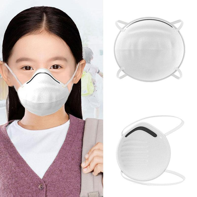 5/10PCS Children Anti Dust Mask Reusable Breathable Anti Haze Cotton Mask Antibacterial Pm2.5 Filter Respirator Mouth Mask Kids 1