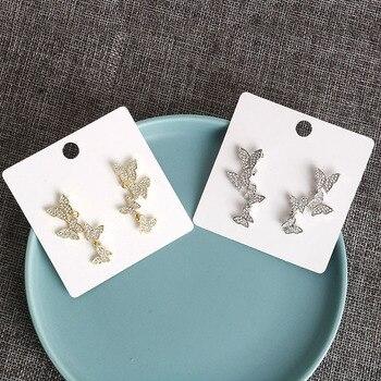 Pendientes de mariposa de cristal pendientes simples bonitos coreanos femeninos pequeños pendientes...