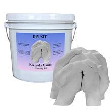 Empreintes de mains 3d en plâtre C07, Mini Kit de moulage de mains et de pieds de bébé, moulage de poudre Clone, cadeau souvenir, bricolage