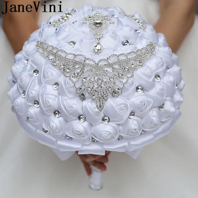 Крупные свадебные букеты jaevini 30 см для большой невесты белые