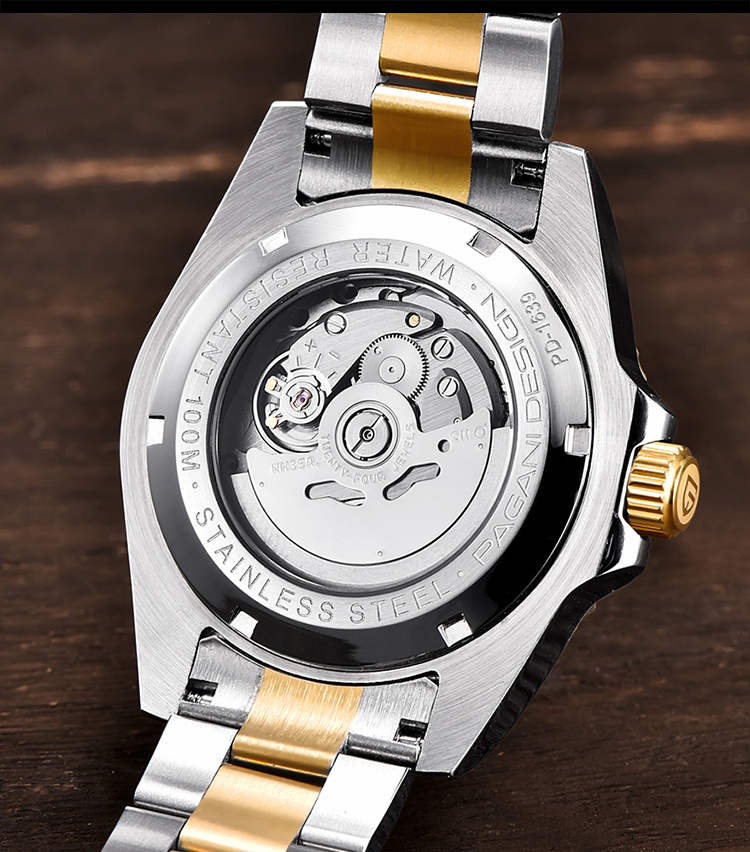 H541f63ae43c44c1a85e854a600468430Q PAGANI2019 Design Brand Luxury Men Watches Automatic Black Watch Men Stainless Steel Waterproof Business Sport Mechanical
