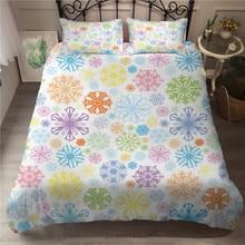 MEI Dream Colorful Snow Pattern Duvet Cover Set Series Complete Bedding Sets double Sheet King Size