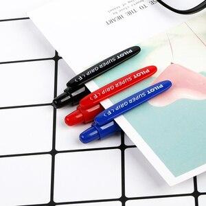Image 5 - 12 sztuk japonia Pilot BPGP 10R SUPER GRIP kulkowe długopisy długopis przeźroczyste tworzywo sztuczne 0.7mm biuro szkolne
