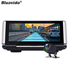 "Bluavido 7 ""IPS 4G akıllı araba Dash kamera Android GPS navigasyon 1080P araba video kaydedici gece görüş bluetooth Wi Fi canlı monitör"