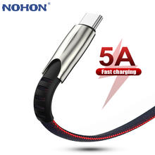 USB Type C Cable For Xiaomi Redmi Note 8 8T Samsung S10 Huawei P30 Pro USBC Mobile Phone Cord Data Charger 5A Fast Charging Wire