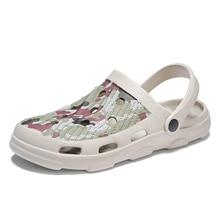 2020 New Summer Camouflage Beach Sandals Crocs Shoes Man Sandals Clogs Crocks Ma