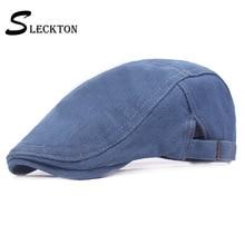 SLECKTON Fashion Cowboy Hat Men's Denim Berets Cap for Men Peaked Cap France Flat Cap Women 's Casual Newsboy Hat Visors Unisex maggie carpenter cowboy s rules