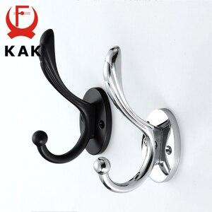 Image 4 - KAK Zinc aleación Vintage bronce gancho perchas gancho de pared para abrigo bolsa sombrero ganchos para baño o cocina Anitque bastidores con tornillos