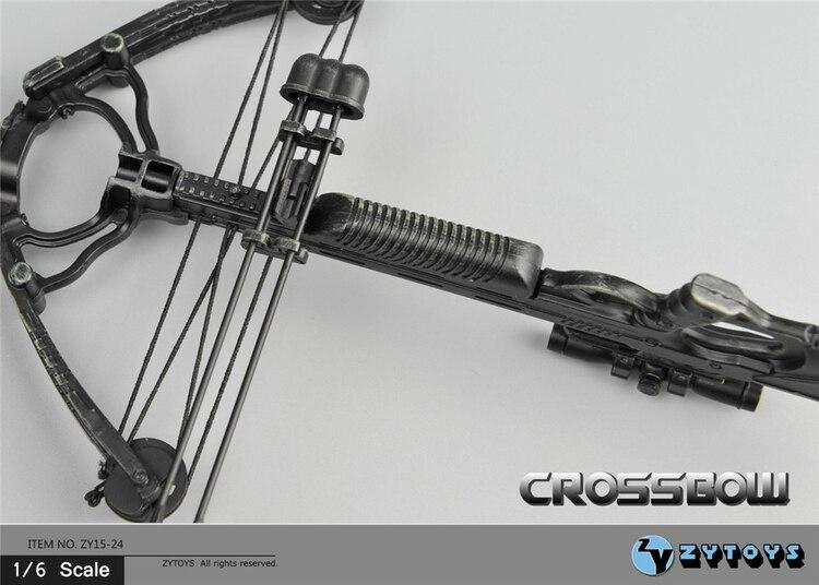 15cm 1/6 Scale Mini Crossbow Model 8PCS Arrows Weapon Model Action Figure Accessory