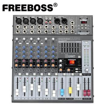 Freeboss ME82 Ультра низкий уровень шума 4 моно + 2 стерео 8 каналов 16 DSP USB Профессиональный dj аудио миксер консоль