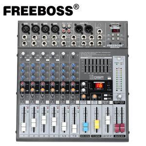 Image 1 - Freeboss ME82A Ultra רעש נמוך 4 מונו + 2 סטריאו 8 ערוצים 16 DSP USB מקצועי dj אודיו מיקסר קונסולה