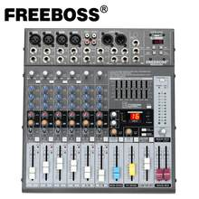 Freeboss ME82A Ultra low noise 4 Mono + 2 stereo 8 channels 16 DSP USB professional dj audio mixer console