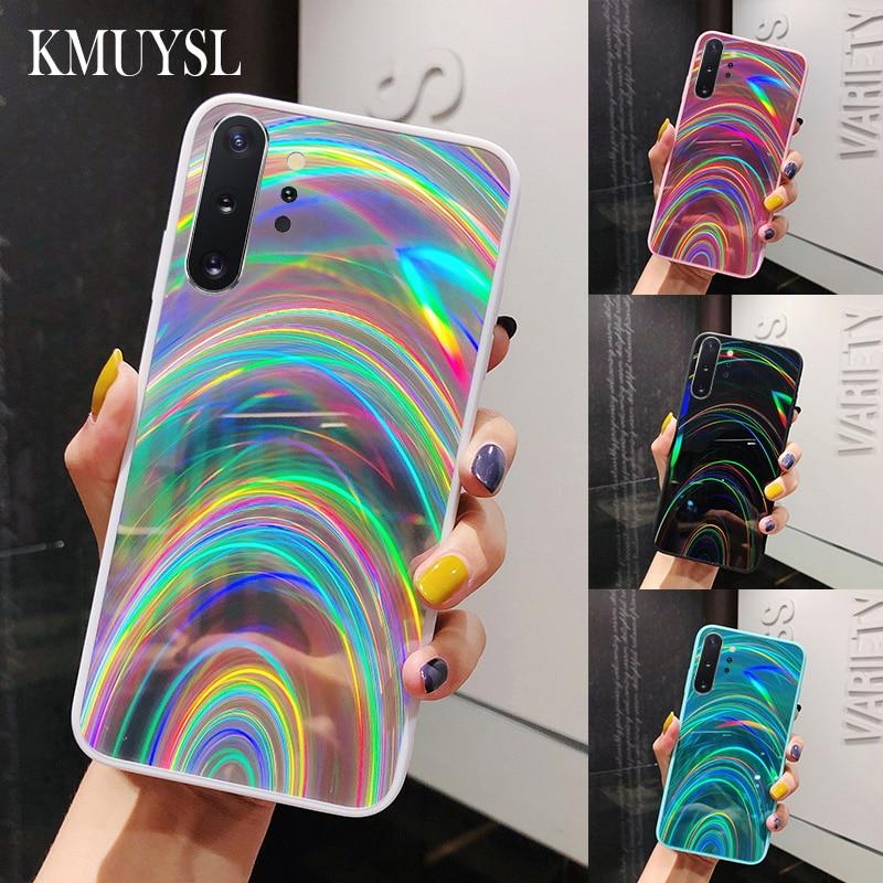 Rainbow Mirror Case For Samsung Galaxy A30S A20 A51 A71 A50 A70 J6 A6 A9 A7 2018 S8 S9 S10 S20 Ultra Note 8 9 10 Plus S10E Cover(China)