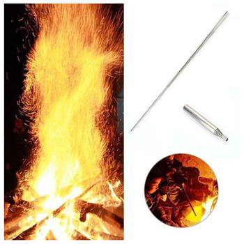 Camping equipment outdoor cookware fire tool 93mm stainless steel telescopic fire tube anti-smoke safety blowing pipe 4