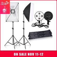 SH софтбокс для фотосъемки, светильник, набор для фотостудии, светильник для непрерывной съемки, лампа, мягкая коробка с Цоколь E27, аксессуары