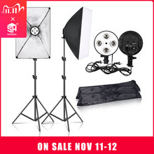 Sh 写真ソフトボックス照明キット、フォトキット、連続撮影ライトランプソフトボックスと E27 ベースアクセサリー