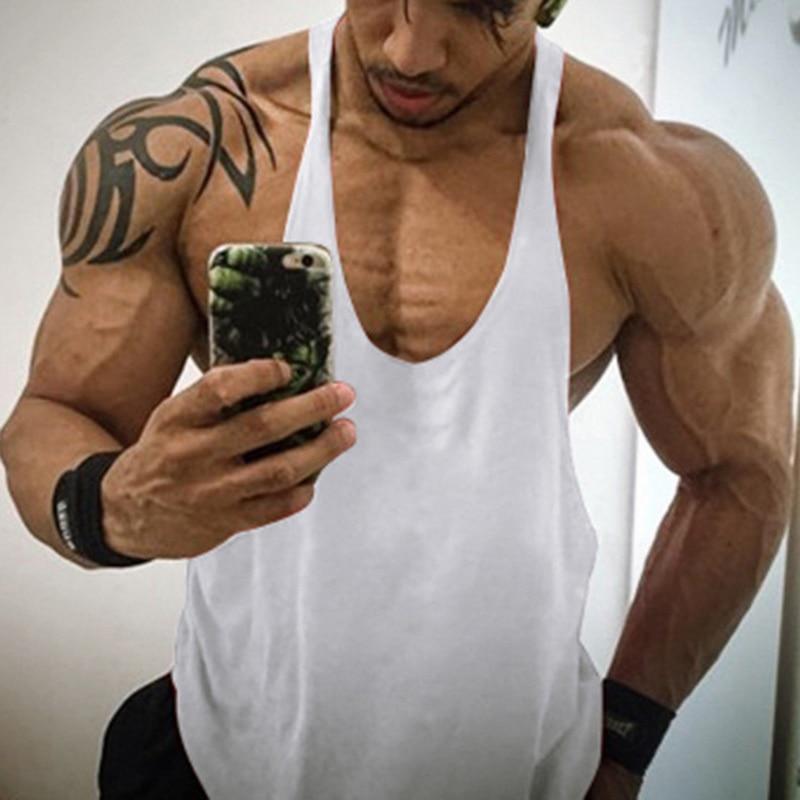2020 Men Tank Top Gym Clothing Cotton High Quality Bodybuilding Vest Men Fitness Vest Muscle Guys