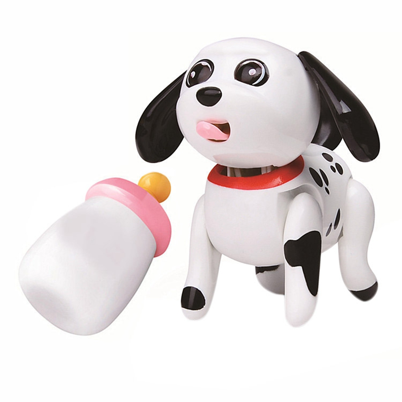 Baby Pet Sucking Dog Cat Doll Interactive Electronic Pet Toy For Children Gift -The Pets Tongue Stick Out Drink Milk Bottle,A