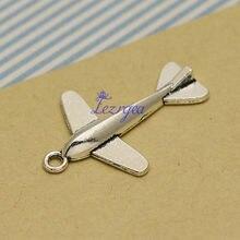 20 pçs/lote -- 35x25mm, avião cham, Antigo banhado a prata encantos aeronaves, material de BRICOLAGE, acessórios de Jóias