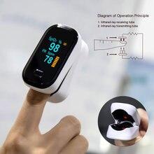 Oxímetro médico portátil do pulso do dedo oled spo2 medidor de oxigênio no sangue oximétrico dedo saturatiemeter vinger pulsossimetro