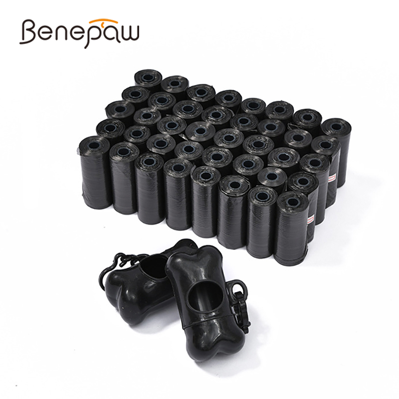 Benepaw Benepaw Biodegradable Dog Poop Bag With 2 Dispensers Leakproof Strong Pet Waste Bag Garbage Nontoxic 12 Rolls/480pcs