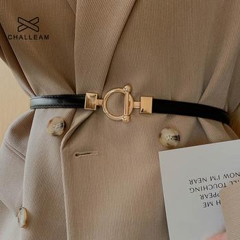 Damskie regulowane cienkie paski dla kobiet moda luksusowa marka styl designerski chudy płaszcz kurtka sukienka pas biodrowy kobieta x610 tanie i dobre opinie challeam Dla osób dorosłych CN (pochodzenie) WOMEN 1 5cm Pasy 1 6cm