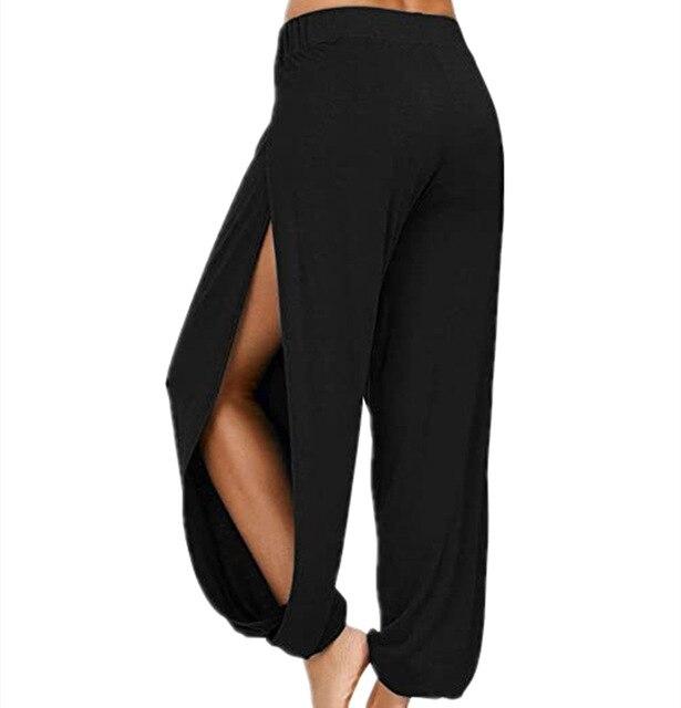 Merry Pretty Summer High Slit Haren Pants Women Solid Hippie Harem Wide Leg Pants Trousers S-3XL 1